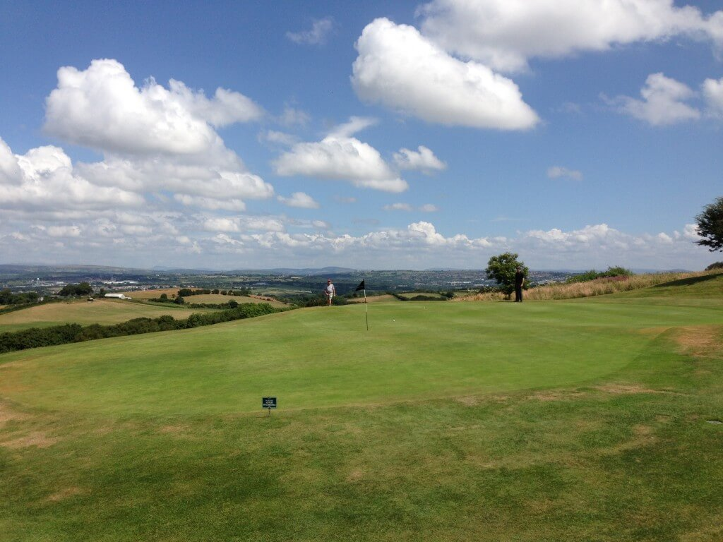 View across Gower Golf Club