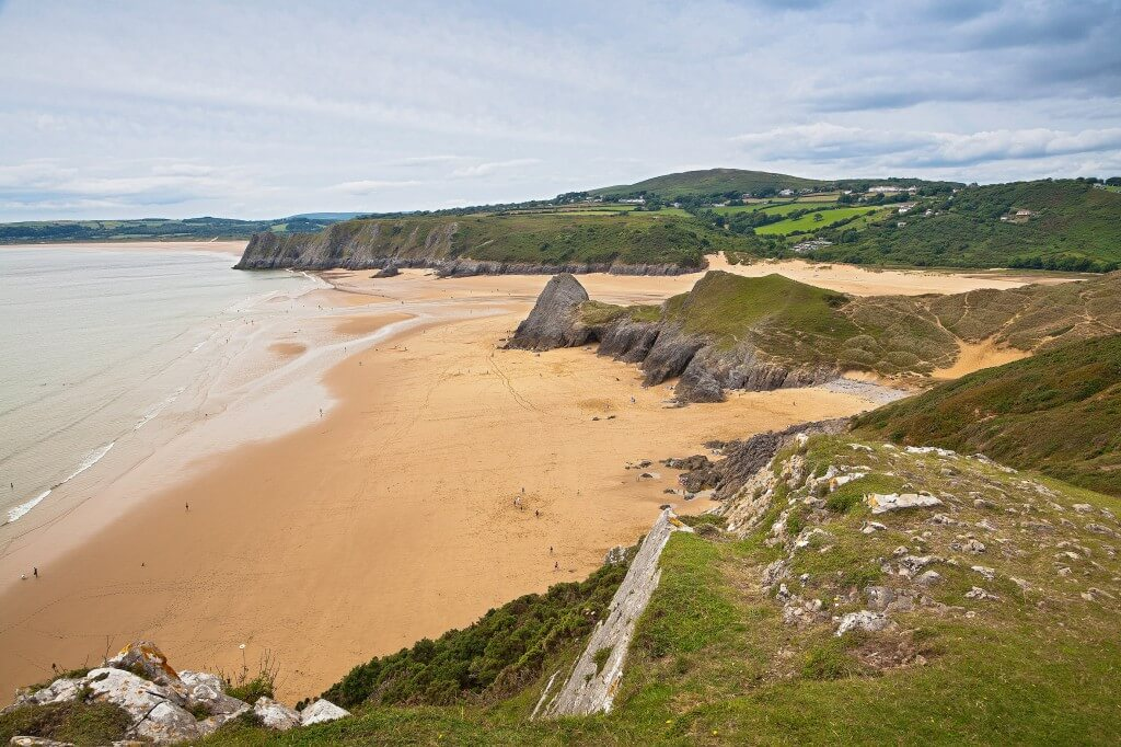 View of Three Cliffs Bay from Southgate