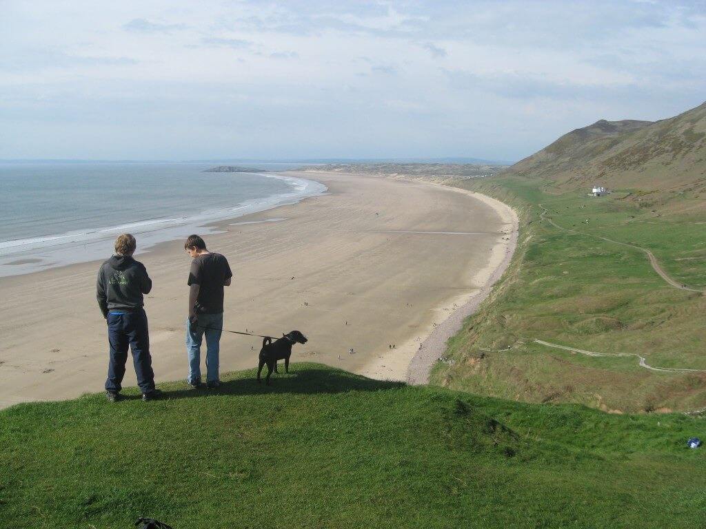 View across Rhossili Bay a wonderful holiday destination
