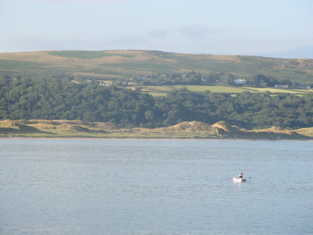 Water skier at Oxwich Bay