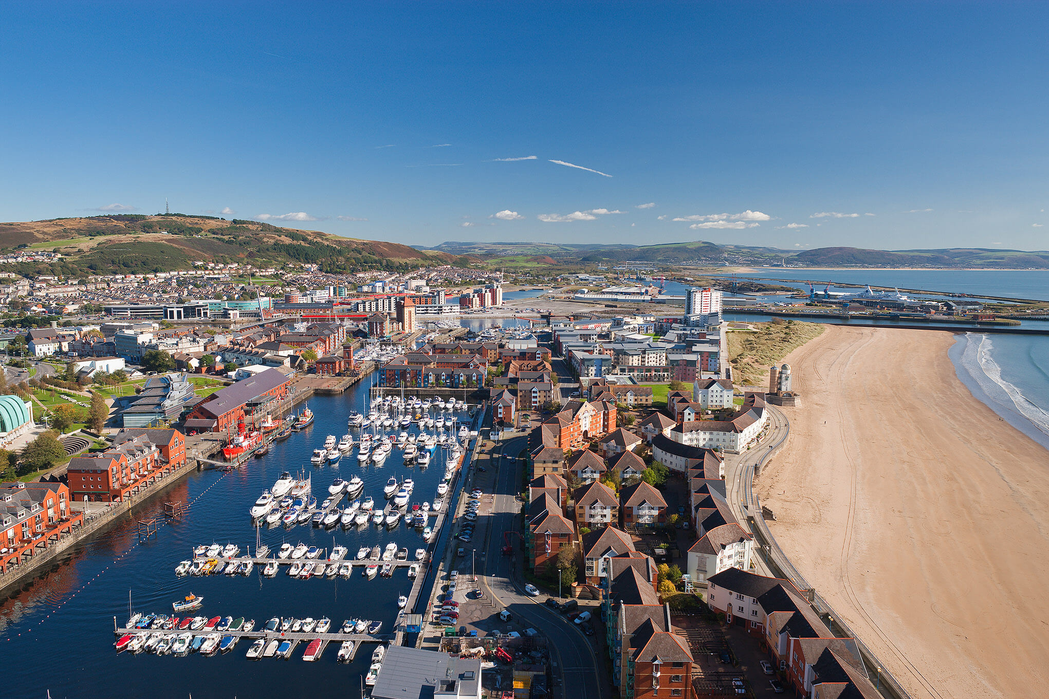 Swansea marina from the air