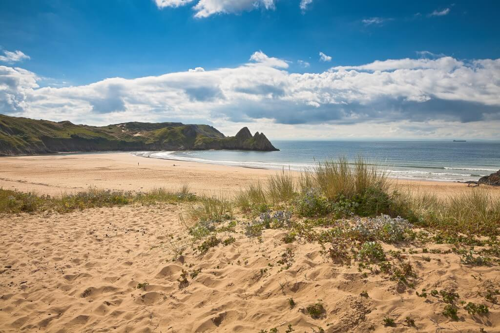 View across Three Cliffs Bay, Gower Peninsula